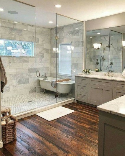 Cute Farmhouse Bathroom Remodel Ideas On A Budget38