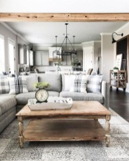Splendid Farmhouse Living Room Design Decor Ideas04