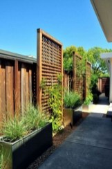 Stylish Wooden Privacy Fence Patio Backyard Landscaping Ideas05