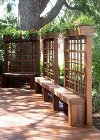 Stylish Wooden Privacy Fence Patio Backyard Landscaping Ideas09