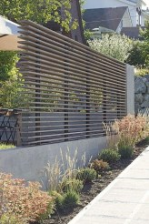 Stylish Wooden Privacy Fence Patio Backyard Landscaping Ideas26