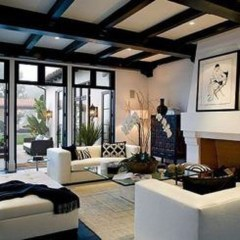 Amazing Living Rooms Design Ideas With Exposed Wooden Beams 03