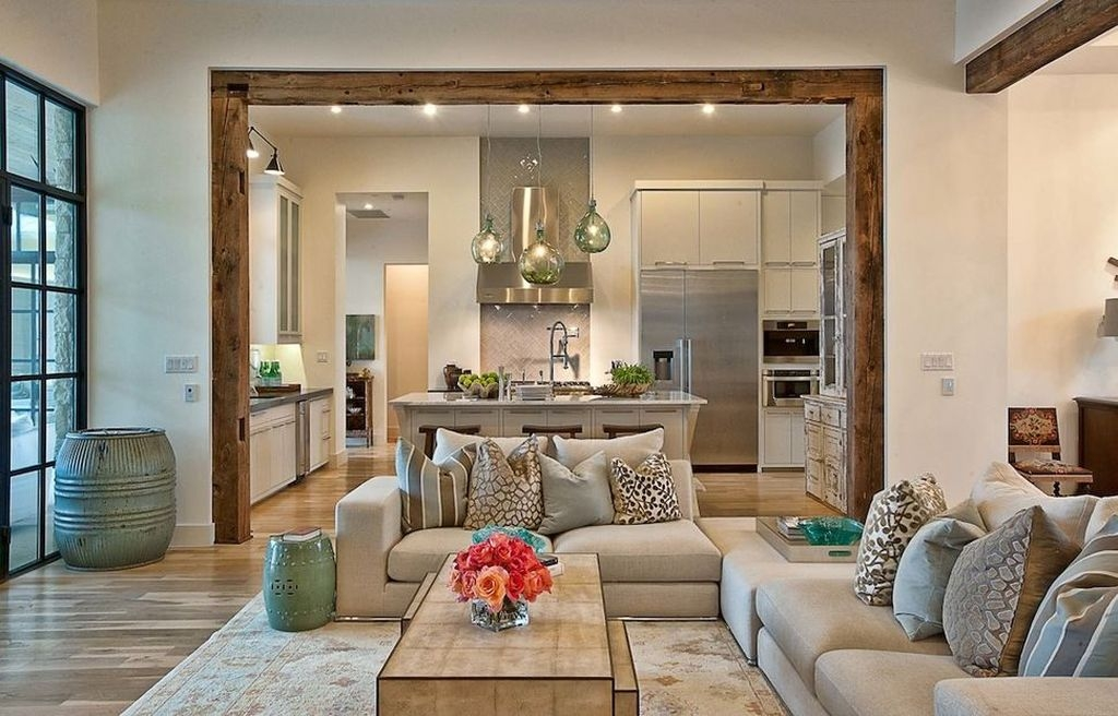Amazing Living Rooms Design Ideas With Exposed Wooden Beams 09