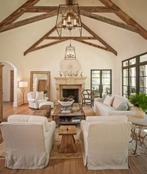 Amazing Living Rooms Design Ideas With Exposed Wooden Beams 13