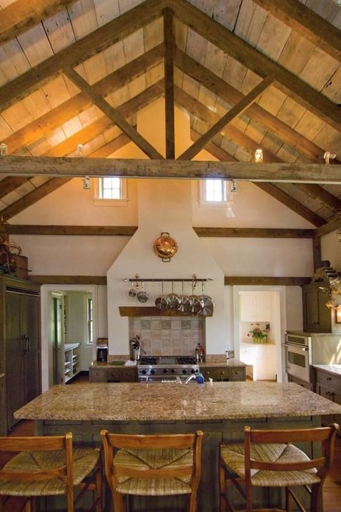 Amazing Living Rooms Design Ideas With Exposed Wooden Beams 27
