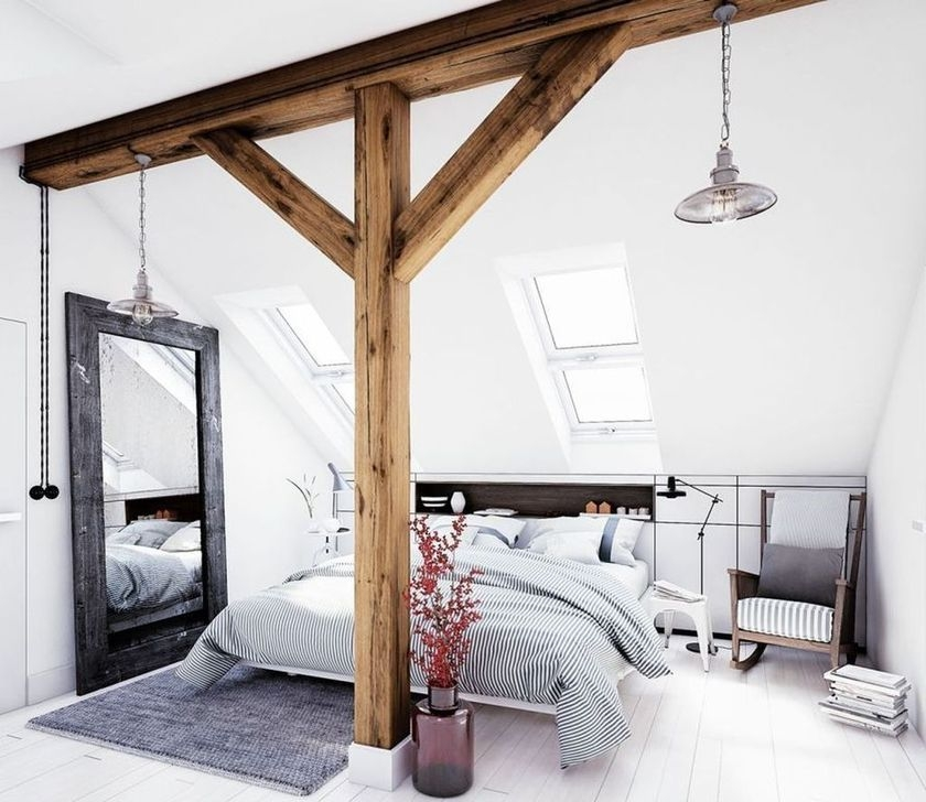 Amazing Living Rooms Design Ideas With Exposed Wooden Beams 30