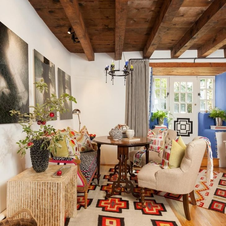 Amazing Living Rooms Design Ideas With Exposed Wooden Beams 34