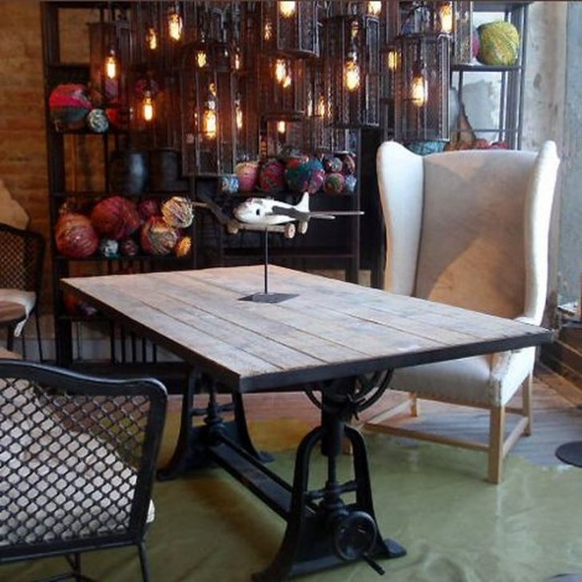 Beautiful Industrial Furniture Design Ideas With Wood 09