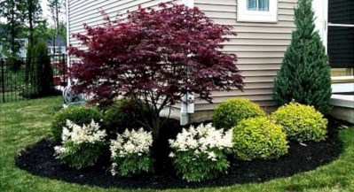Enchanting Front Of House Landscaping Ideas29