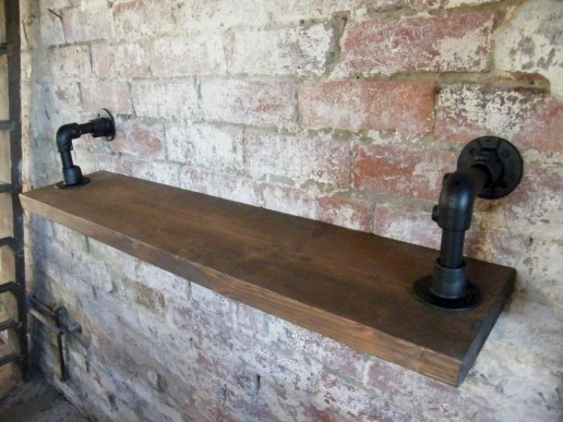 Inexpensive Diy Pipe Shelves Ideas On A Budget14