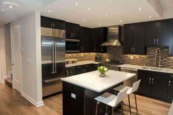 Magnficient Small Kitchens Ideas With Dark Cabinets01
