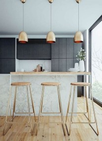 Magnficient Small Kitchens Ideas With Dark Cabinets30