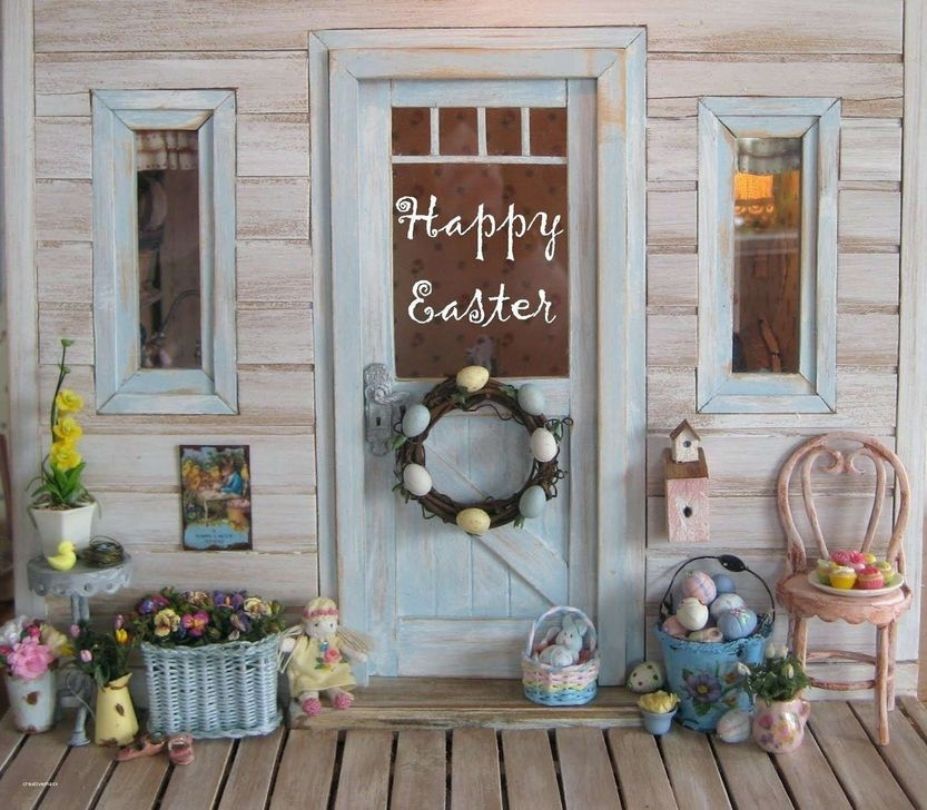 Charming Easter Ideas For Outdoor Decorations 01