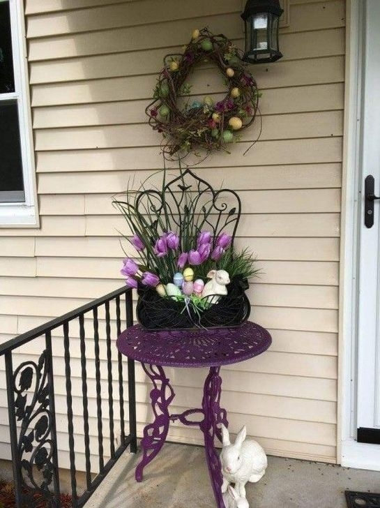 Charming Easter Ideas For Outdoor Decorations 29