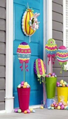 Charming Easter Ideas For Outdoor Decorations 39