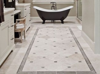 Cool Tile Pattern Design Ideas For Bathroom 30