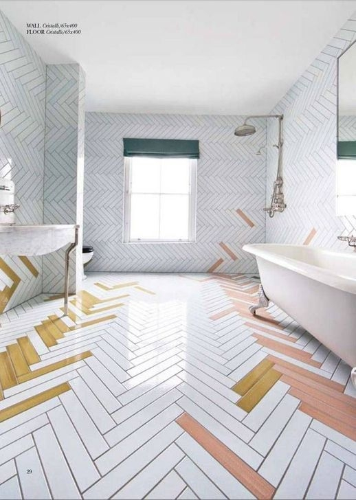 Cool Tile Pattern Design Ideas For Bathroom 32