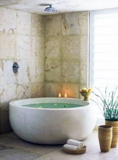 Cozy Spa Bathroom Decorating Ideas 21