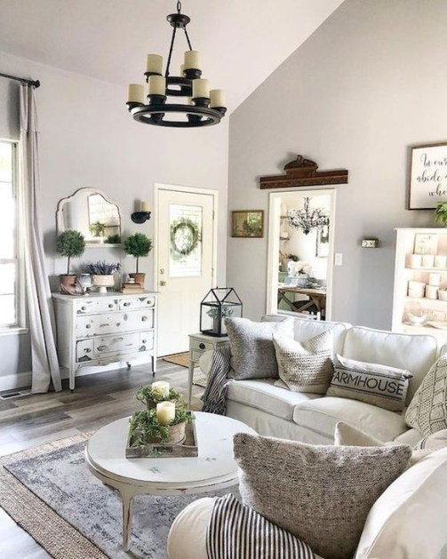Gorgeous Farmhouse Living Room Design Ideas 30