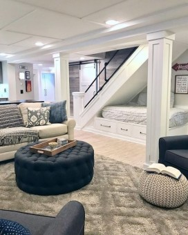 Wonderful Basement Remodel Ideas Into An Attractive Living Room 15