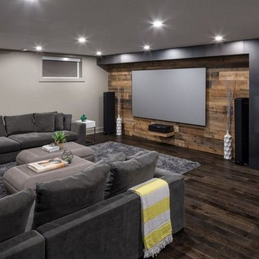 Wonderful Basement Remodel Ideas Into An Attractive Living Room 20