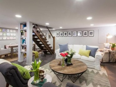 Wonderful Basement Remodel Ideas Into An Attractive Living Room 34