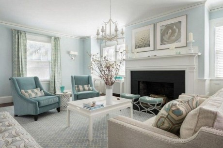 Enchanting Turquoise Living Room Ideas 13