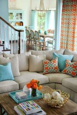 Enchanting Turquoise Living Room Ideas 17