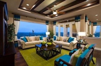 Enchanting Turquoise Living Room Ideas 18