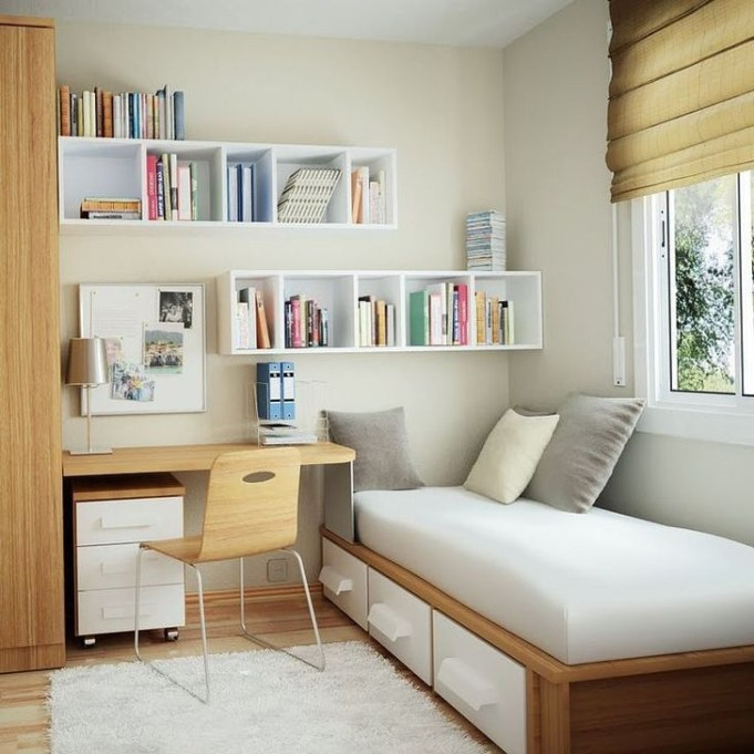 Minimalist Small Space Ideas For Bedroom And Home Office 01