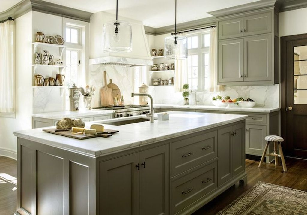 Awesome White And Clear Kitchen Design Ideas 29