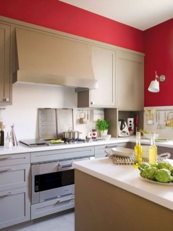 Cozy Red Kitchen Wall Decoration Ideas For You 13