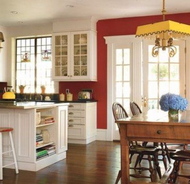 Cozy Red Kitchen Wall Decoration Ideas For You 14