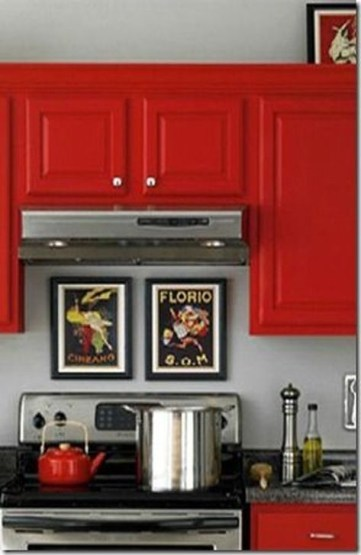 Cozy Red Kitchen Wall Decoration Ideas For You 24