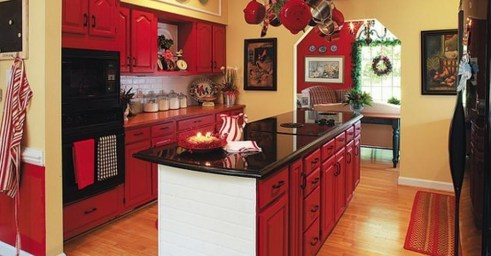 Cozy Red Kitchen Wall Decoration Ideas For You 26