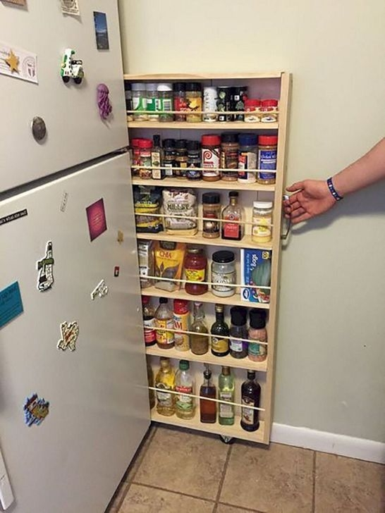 Pretty Hidden Storage Ideas For Kitchen Decor 41