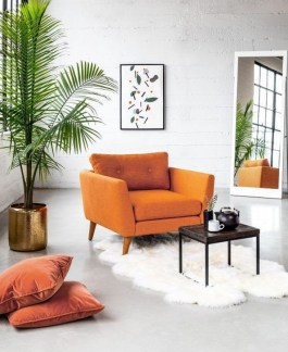 Relaxing Living Room Design Ideas With Orange Color Themes 02