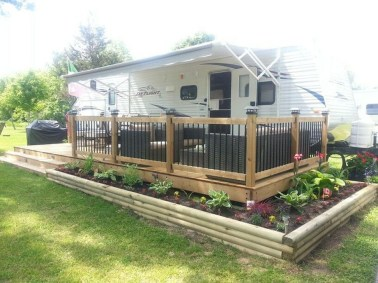 Classy Rv Camping Design Ideas For Summer Vacation 22