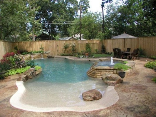 Comfy Backyard Designs Ideas With Swimming Pool Looks Cool 20
