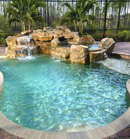Comfy Backyard Designs Ideas With Swimming Pool Looks Cool 25