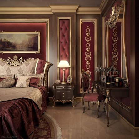 Comfy Red Bedroom Decorating Ideas For You 09