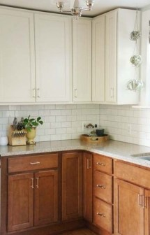 Fancy Painted Kitchen Cabinets Design Ideas With Two Tone 05