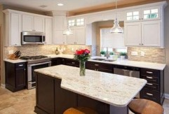 Fancy Painted Kitchen Cabinets Design Ideas With Two Tone 11