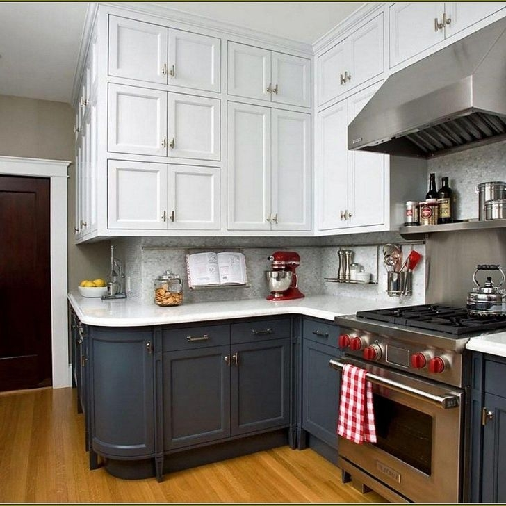 Fancy Painted Kitchen Cabinets Design Ideas With Two Tone 30