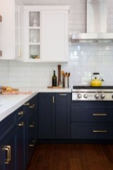 Fancy Painted Kitchen Cabinets Design Ideas With Two Tone 36