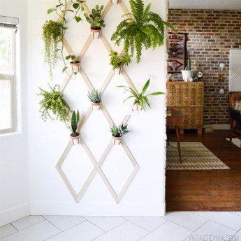 Fascinating Diy Wood And Leather Trellis Plant Ideas For Wall To Try 18