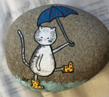 Glamour Diy Painted Rocks Animals Cats Ideas For Summer 44
