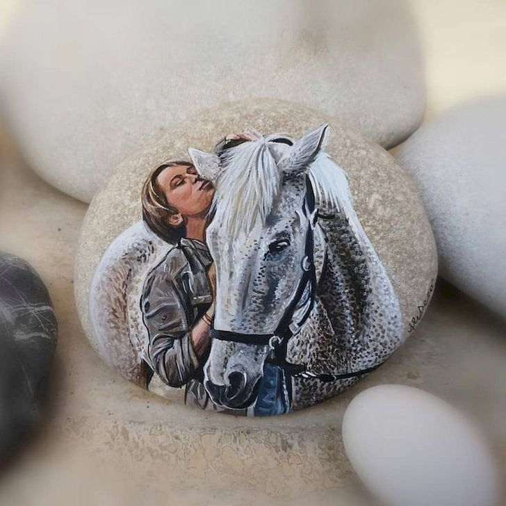 Marvelous Diy Projects Painted Rocks Animals Horse Ideas For Summer 15