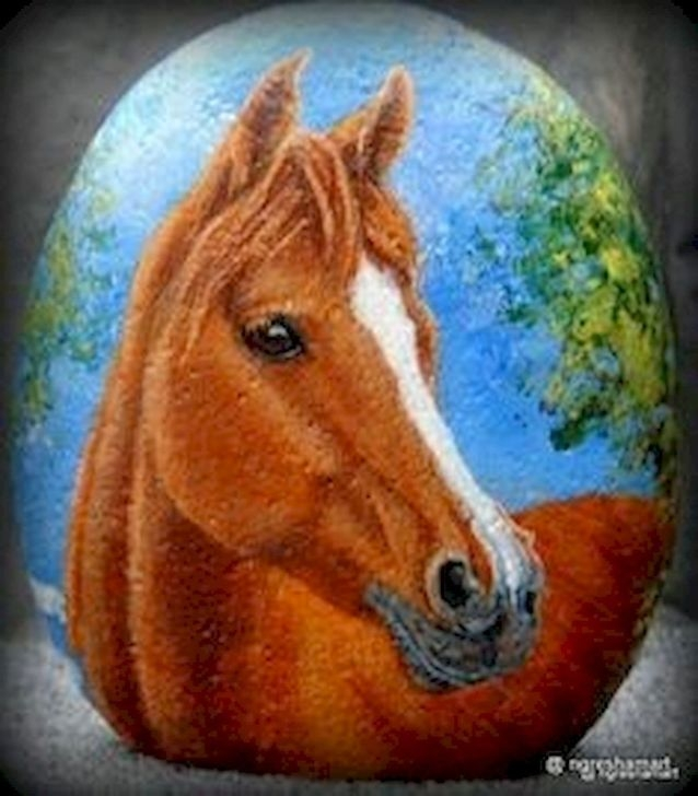 Marvelous Diy Projects Painted Rocks Animals Horse Ideas For Summer 16