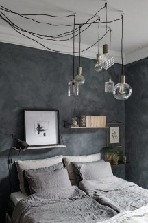 Delightful Bedroom Designs Ideas With Dark Wall That Breaks The Monotony 09